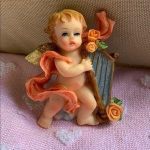 "3"" cherub with harp angel 👼 magnet 🧲 decoration"